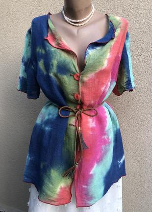 Блуза,рубашка,кофточка,лён,этно бохо стиль,