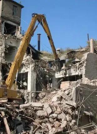 Механізований демонтаж, демонтажні роботи Тернопіль, гідромолот