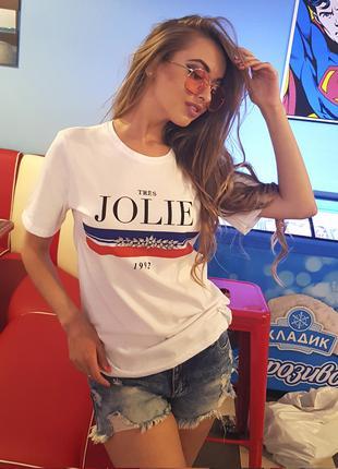 "Футболка белая ""Jolie"""