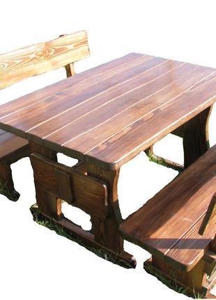 Садовая детская мебель из массива дерева 800х800 от производителя