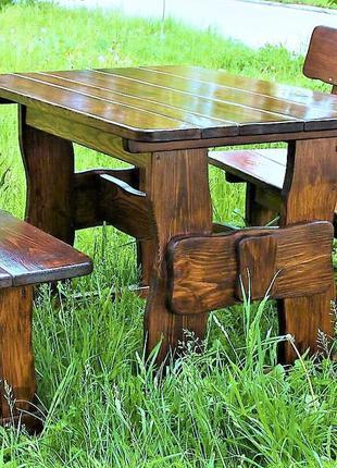 Садовая мебель из массива дерева 1100х800 от производителя