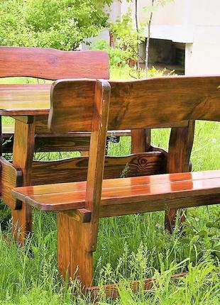 Садовая мебель из массива дерева 1200х800 от производителя