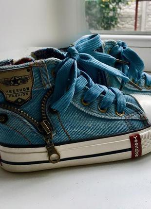 Детские джинсовые кеды на весну лето 25 размер