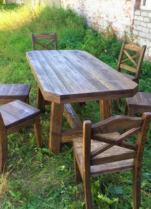 Садовая мебель из массива дерева 1710х840 от производителя