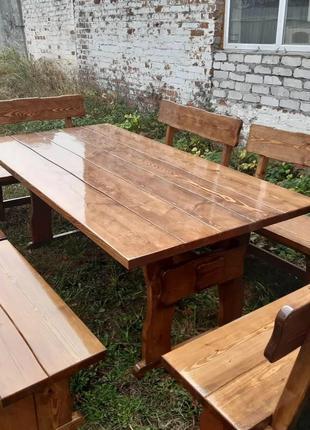 Садовая мебель из массива дерева 2000х1000 от производителя