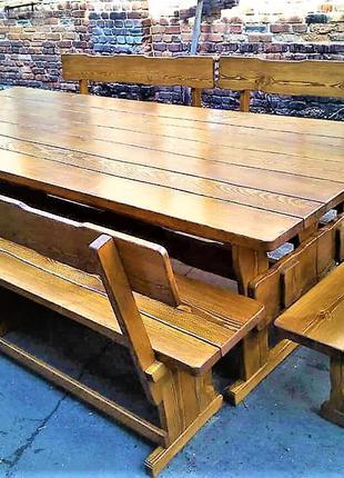 Садовая мебель из массива дерева 2500х800 от производителя