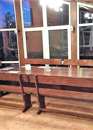 Садовая мебель из массива дерева 2700х1200 от производителя