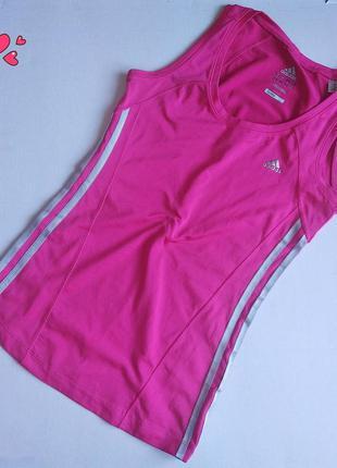 Майка adidas спортивная с лампасами,одежда для фитнеса