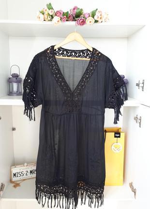 Прозрачное пляжное платье туника   warehouse