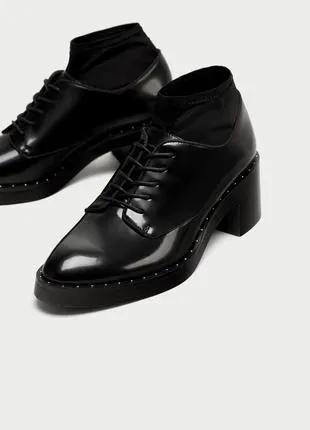 ZARA оксфорды броги лоферы туфли