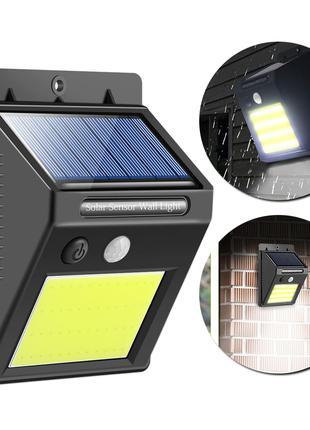 Светильник на солнечной батарее с датчиком движения, новый