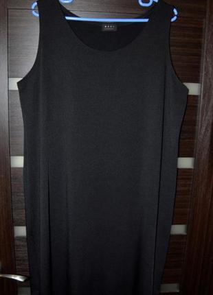 Платье майка в пол, большой размер