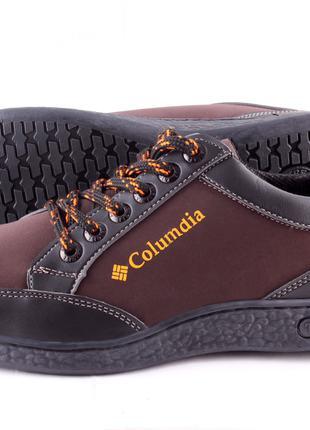 Оптом Мужская обувь кроссовки Т12 коричневые от производителя