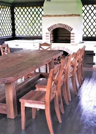 Садовая мебель из массива дерева 3200х1500 от производителя