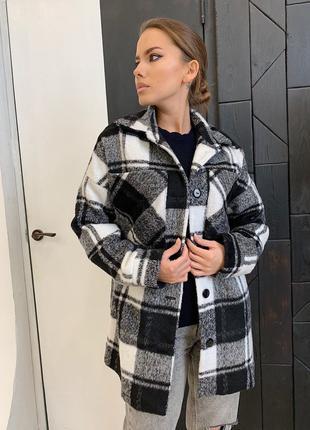 Пальто рубашка пальто в клетку