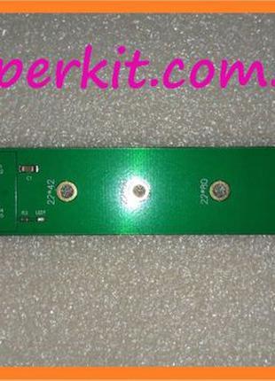 Переходник адаптер из SSD от MacBook 16+12 контактов -> M.2 PC...