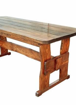 Деревянный стол 1000х800 мм из массива сосны ручной работы