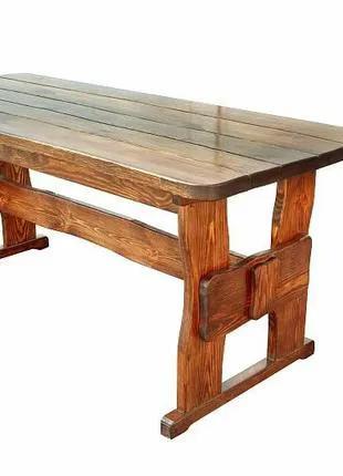 Стол из массива дерева 1600х800 мм ручной работы для ресторана