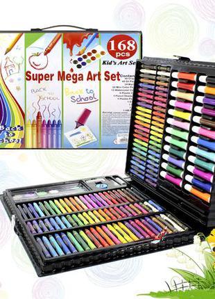 Набор детского творчества рисования Super Mega Art Set 168 шт ...