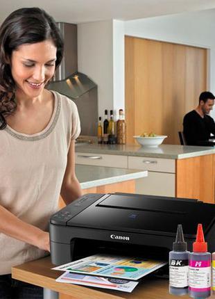 Принтер Сканер 3 в 1 МФУ CANON E414 + СНПЧ Струйный для печати...