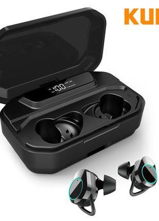 Беспроводная Bluetooth гарнитура KUMI T3S зарядным кейсом науш...