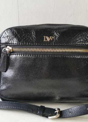 Diane von furstenberg компактная кожаная сумка