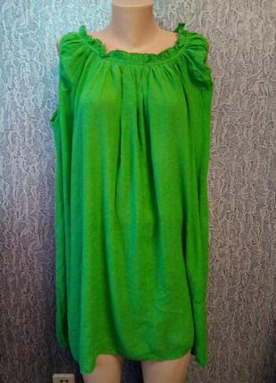 Платье туника, большой размер.