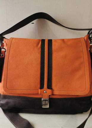 0714 большая кожаная сумка