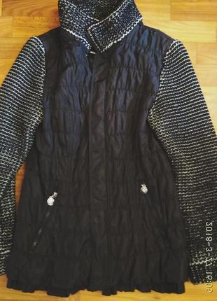 Отличная, стильная  куртка-пальто