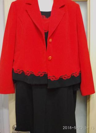 Нарядный костюм платье   пиджак 50-52р.