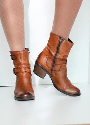 Кожаные ботинки полусапожки, натуральная кожа, бренд clarks 37р.