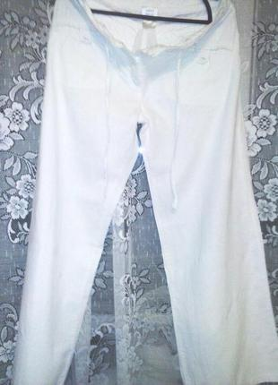 Летние, белые брюки с карманами next