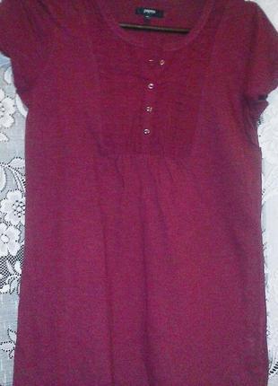Фирменная футболка бордового цвета 44-46р.