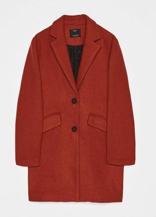 Шерстяное пальто в мужском стиле, бойфренд bershka