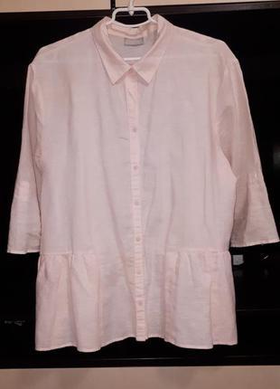 Красивая персиковая блузка с льна раз.xxxl