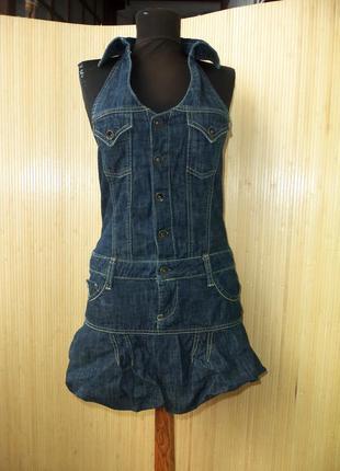 Итальянское платье комбинезон с открытой спиной 34-36