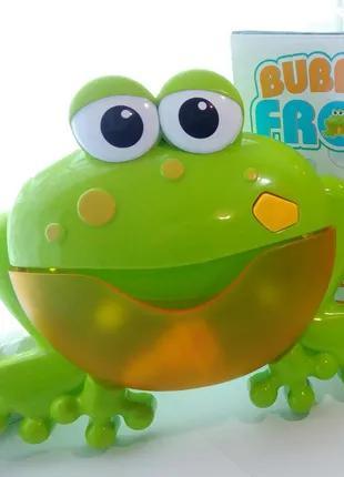 Игрушка для ванны Лягушка мыльные пузыри 12 мелодий генерирует пе