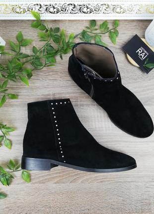 🌿38🌿европа🇪🇺 италия. замша. стильные ботинки, полусапожки прем...