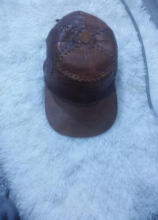 Супер крутая кепка из кожи африканской антилопы!ручная работа!