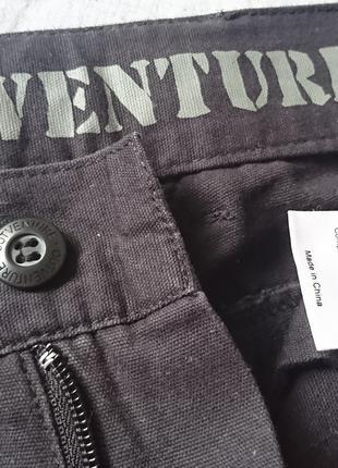 Мужские классические брюки, штаны OUTVENTURE хлопок черные р. М