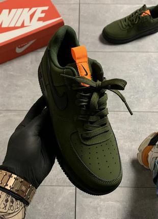 Мужские кроссовки nike air force 1 low olive green