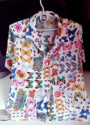 """Очень красивая итальянская рубашка,""""maurice weinberg"""",paris!"""