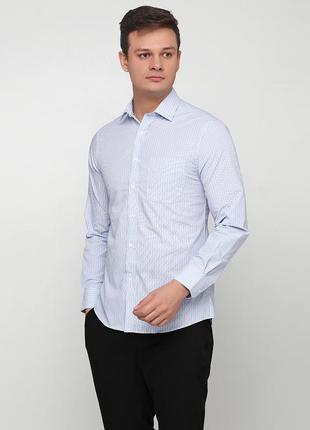 Рубашка marks & spencer slim fit