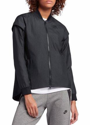 Новая ветровка трансформер (куртка/жилет) nike, s. чёрная эффе...