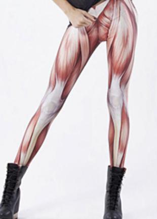 Леггинсы с принтом мышц