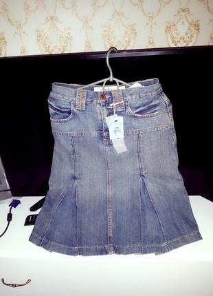 """Крутая джинсовка/джинсовая юбка с завышенной талией""""deplay""""!хи..."""