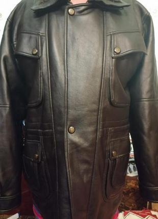 Мужская кожаная куртка большого размера