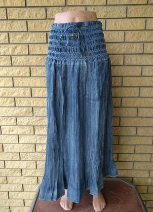 Юбка-сарафан летняя в пол большого размера джинсовая