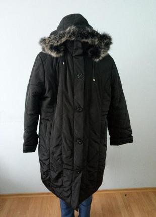 Пальто женское зимнее длинное большого размера
