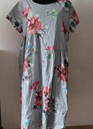 Платье женское коттон цветы